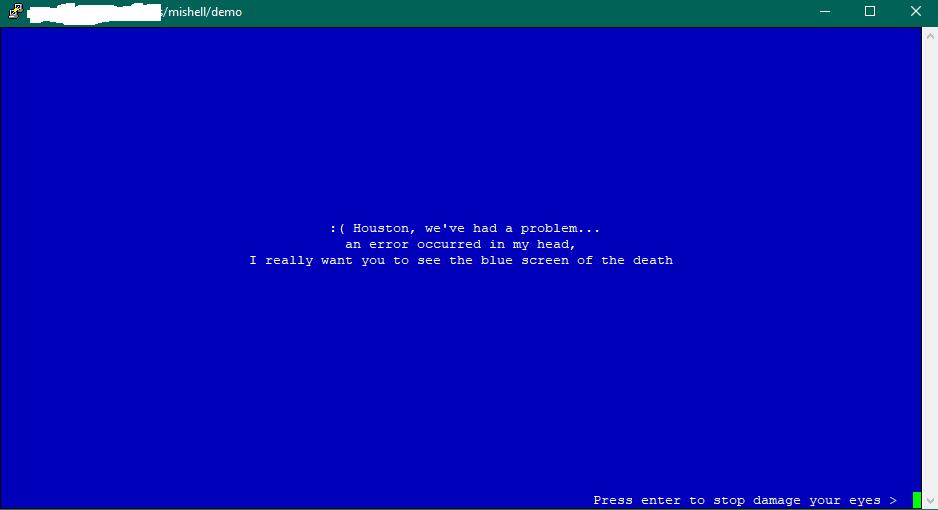 blue-screen